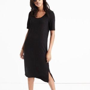 Madewell Black Short Sleeve Tee Midi Dress S